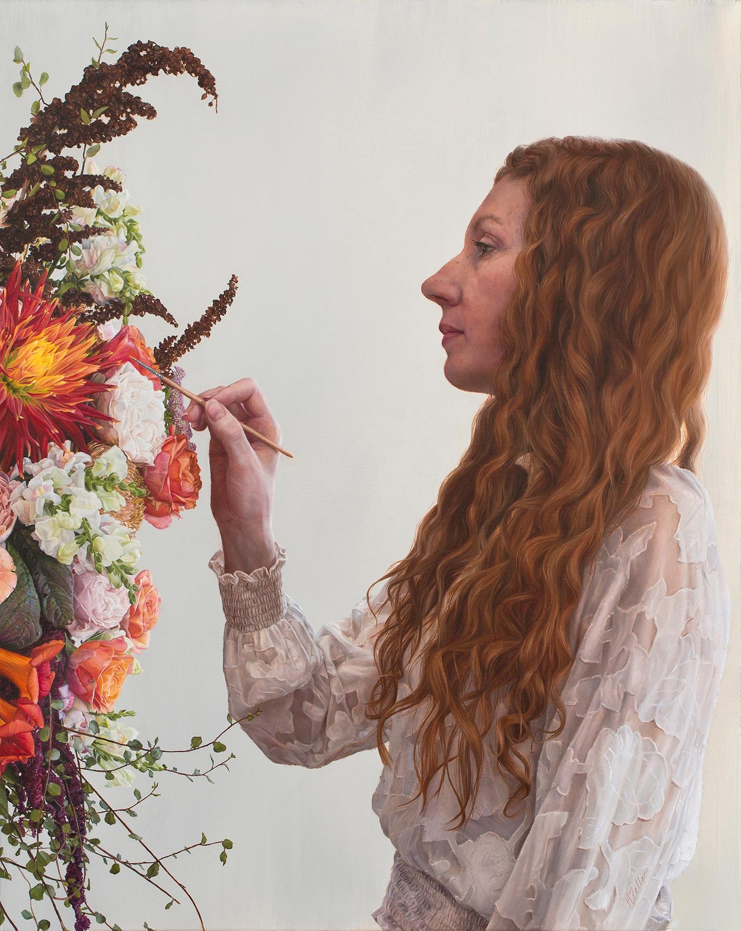 Portrait Painting Flowers', 20  - narellezeller | ello