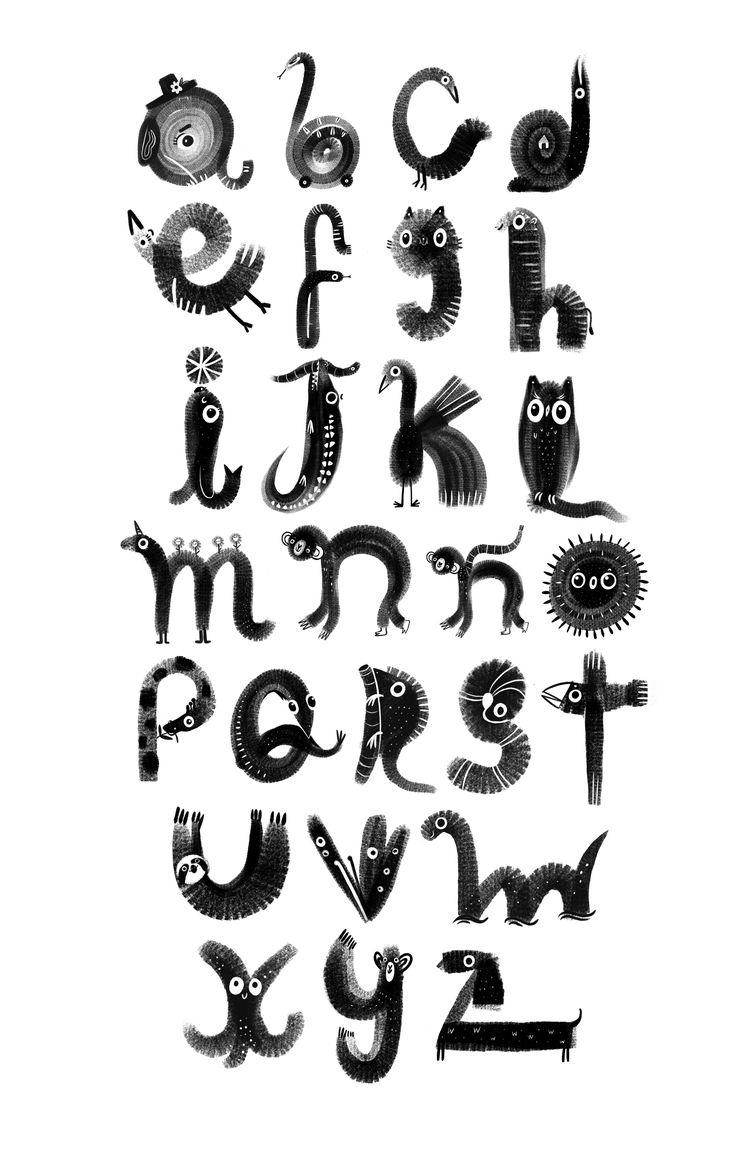Animal alphabet. Pastel brush M - mjdaluz | ello