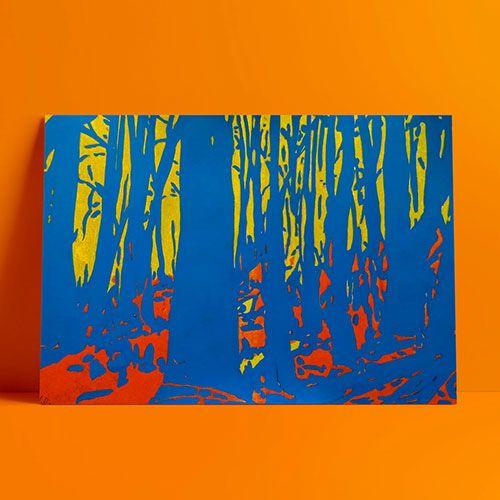 Risograph blue acrylic. Forest - ivalera | ello