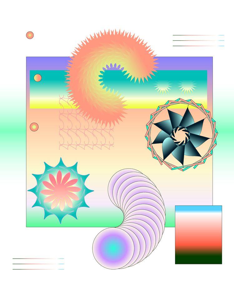 caterpillar sun - illustrator, design - escapescapes | ello