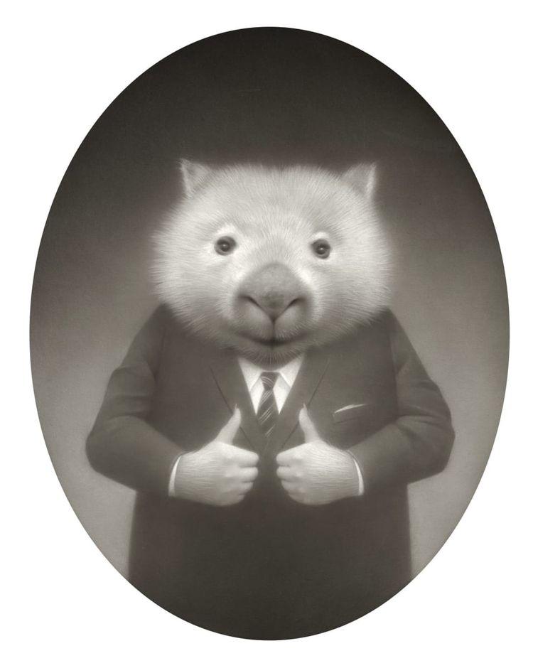 'Daily Affirmation Wombat (Thum - geekynerfherder | ello