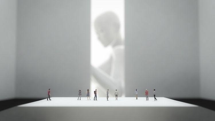 [watching.titans - cinema4d, render - black_cubism | ello