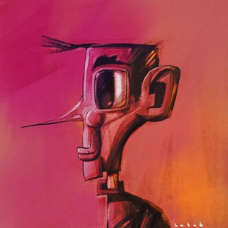 Portrait illustration - babakesmaeli | ello