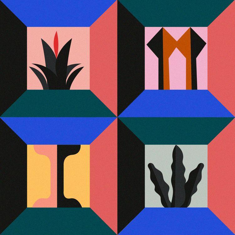 Plantas pilares, 2020 - abstract - alejandragarcia   ello