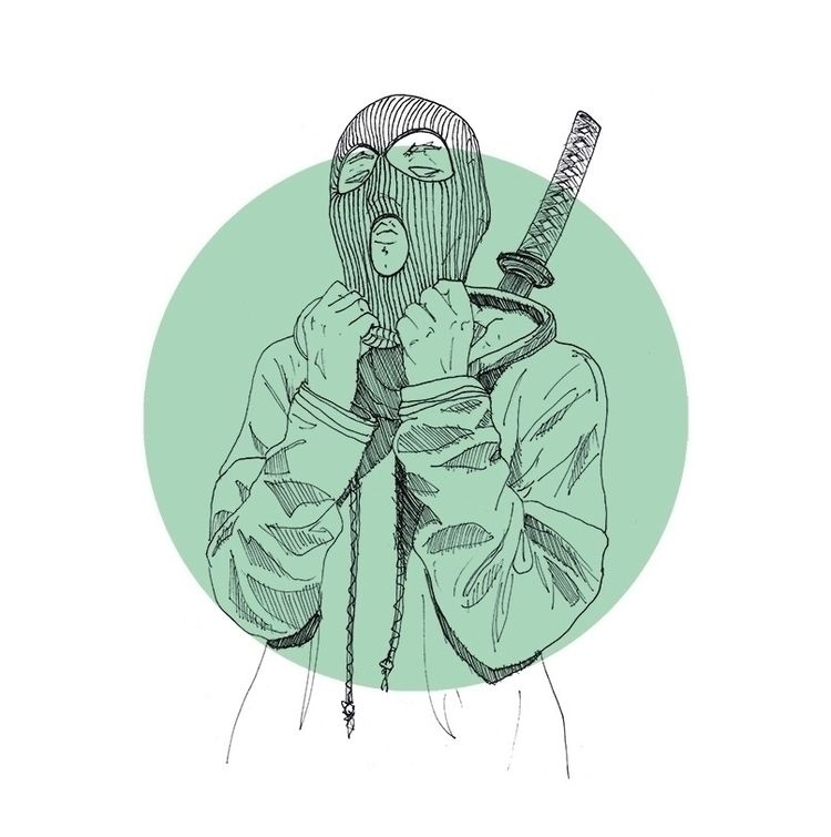 illustration, sketch, mask, ninja - herre84 | ello