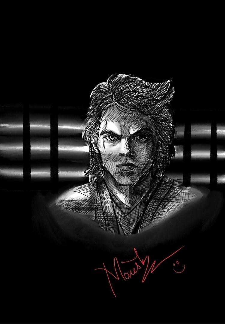 Anakin Skywalker  - procreate, digitalsketch - monesh_ravichandran | ello