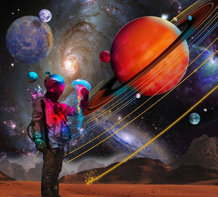 Fresh Space Jellyfish series - photoshop - lobber66 | ello