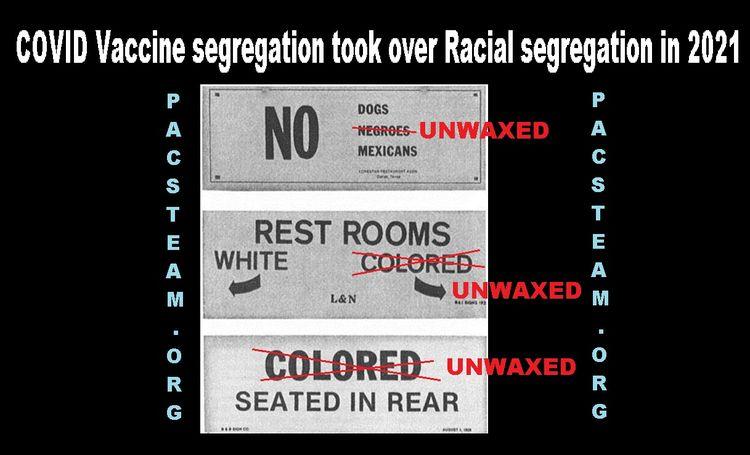 COVID Vaccine segregation Racia - pacmanpacks   ello