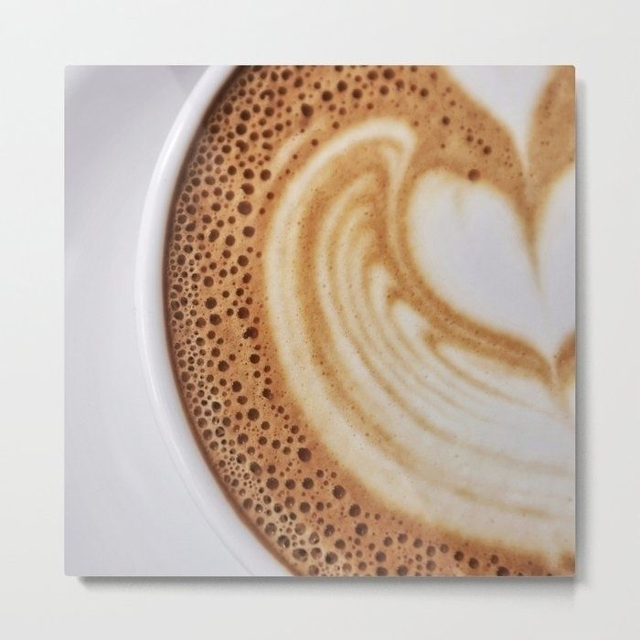 Cup Coffee Metal Print Product  - roxart-nightmare-archive   ello
