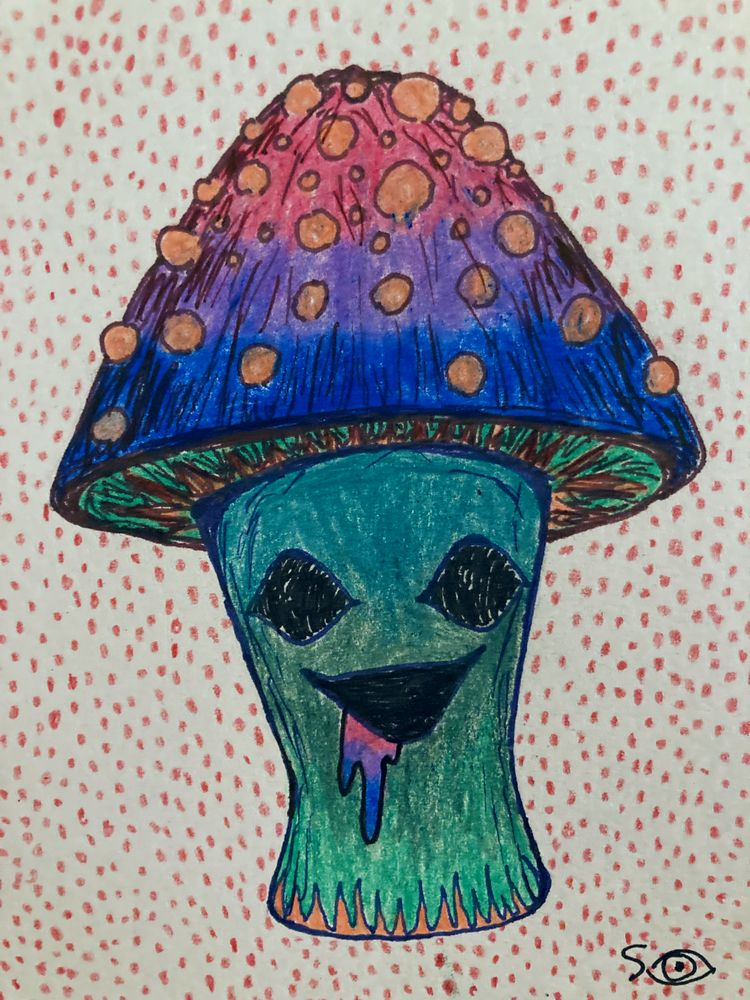 Bi Pride Mushroom - bi, bipride - seanova | ello
