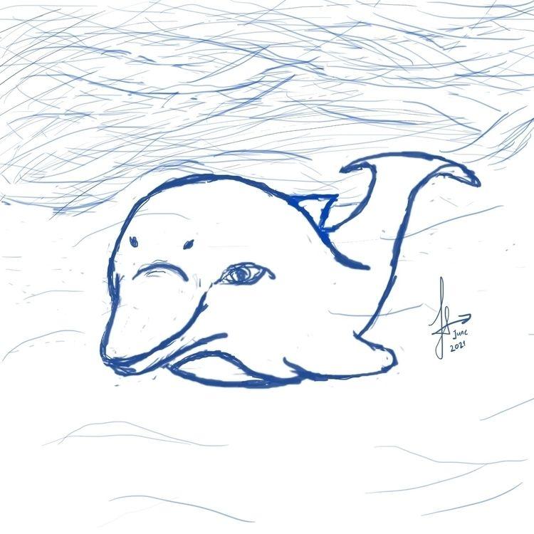 quick dolphin drawing World Oce - ferdiz | ello