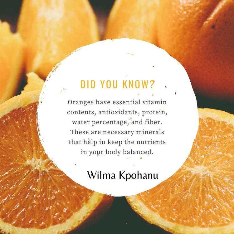 Wilma Kpohanu tells oranges hig - wilmakpohanu | ello