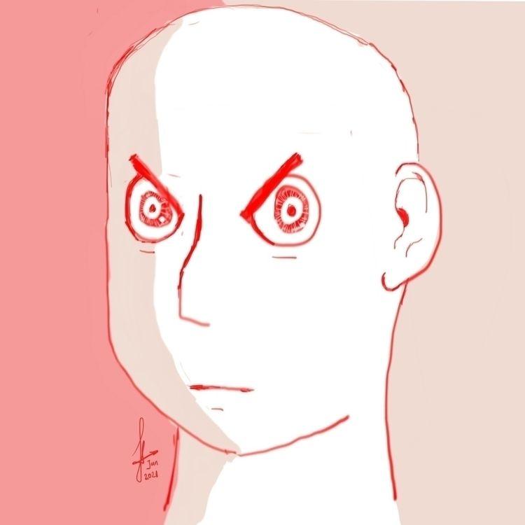 Angry face study (June 2021) dr - ferdiz | ello