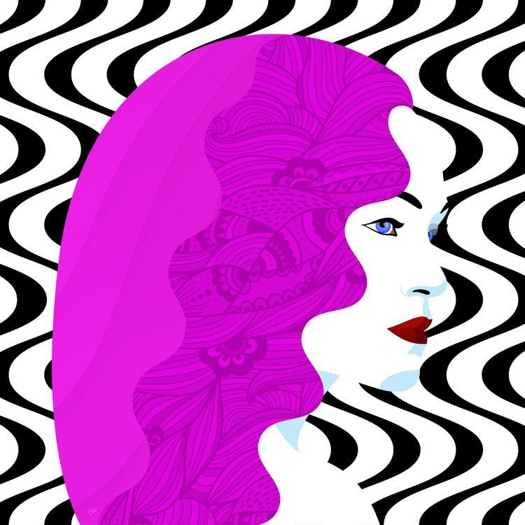 Check latest - illustrations, purplewoman - masgraphicdesign | ello