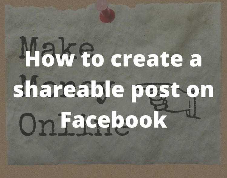 create shareable post Facebook - ideasforseo | ello