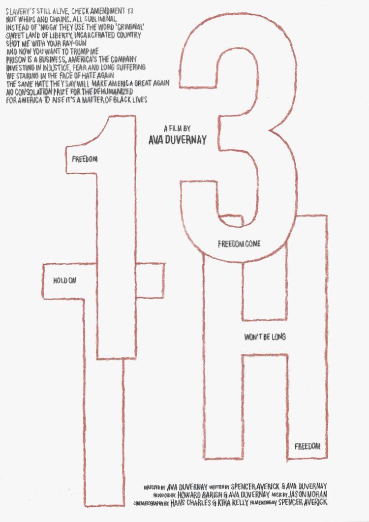 Film poster 13th (USA, 2016), d - mathieuvancamp | ello