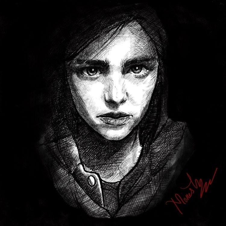 Sketch Ellie 2 - procreate, procreate - monesh_ravichandran   ello