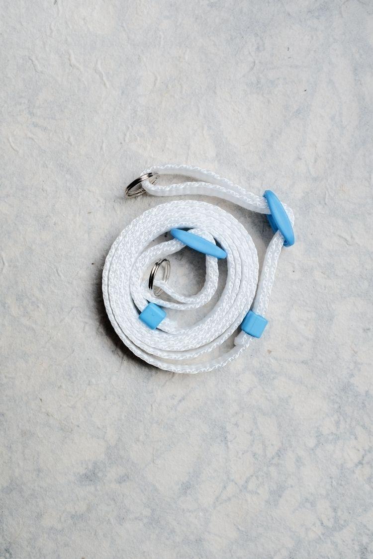 White - Blue Camera Strap - StrapAndGo - strapandgo | ello