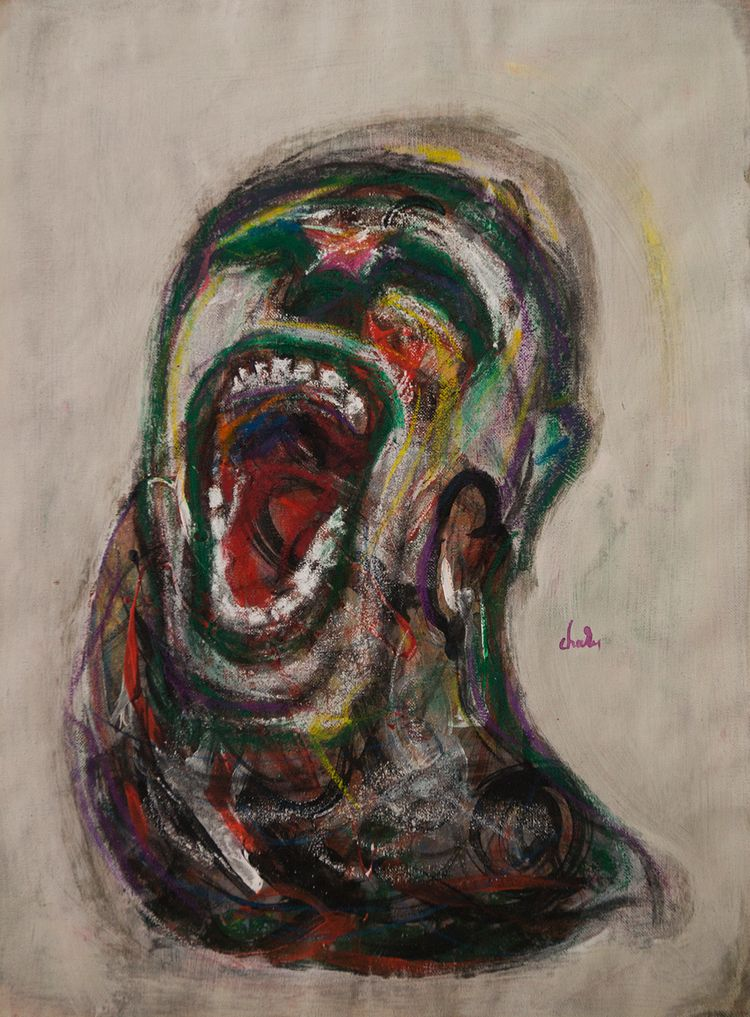 Cry... 40X55cm - cry#painting#gesture#emotion#brut - charis_ps | ello