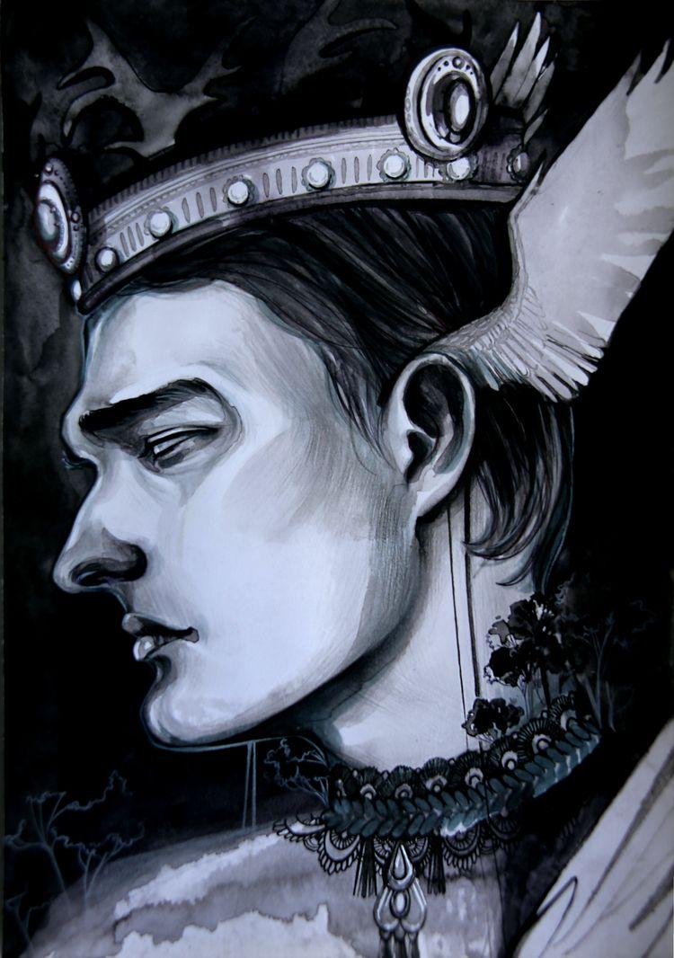 King Avalon, 2020 Watercolor, i - annabatist   ello