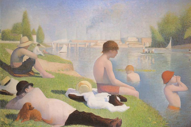 Georges Seurat, Bathers Asniere - geeksusie | ello