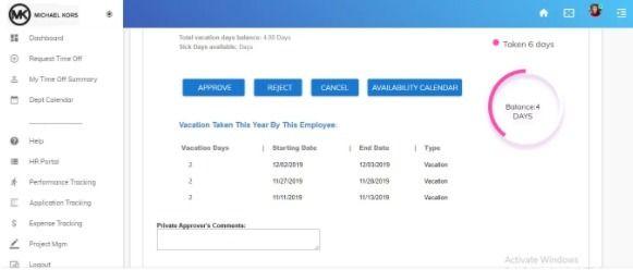 Central Vacation Tracking Porta - commonoffice | ello