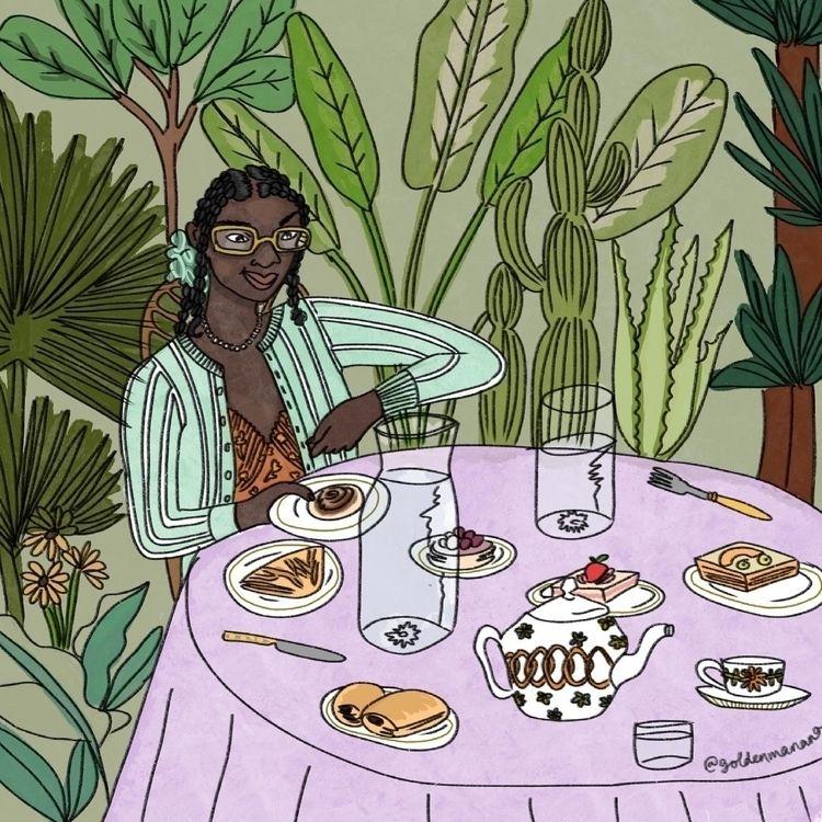 Summer feast - art, illustration - goldenmanana | ello