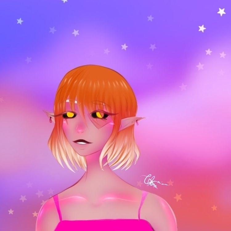 pink elf - draw, drawing, ilustration - sollar_5636 | ello