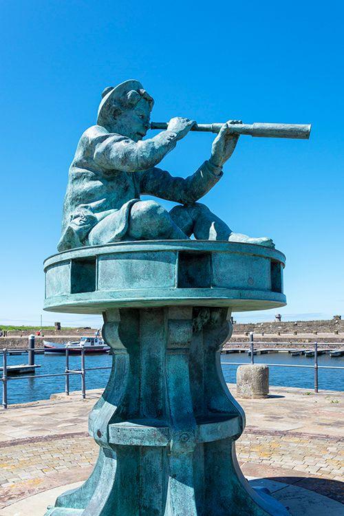 Whitehaven UK charming statue f - azimuthimages | ello