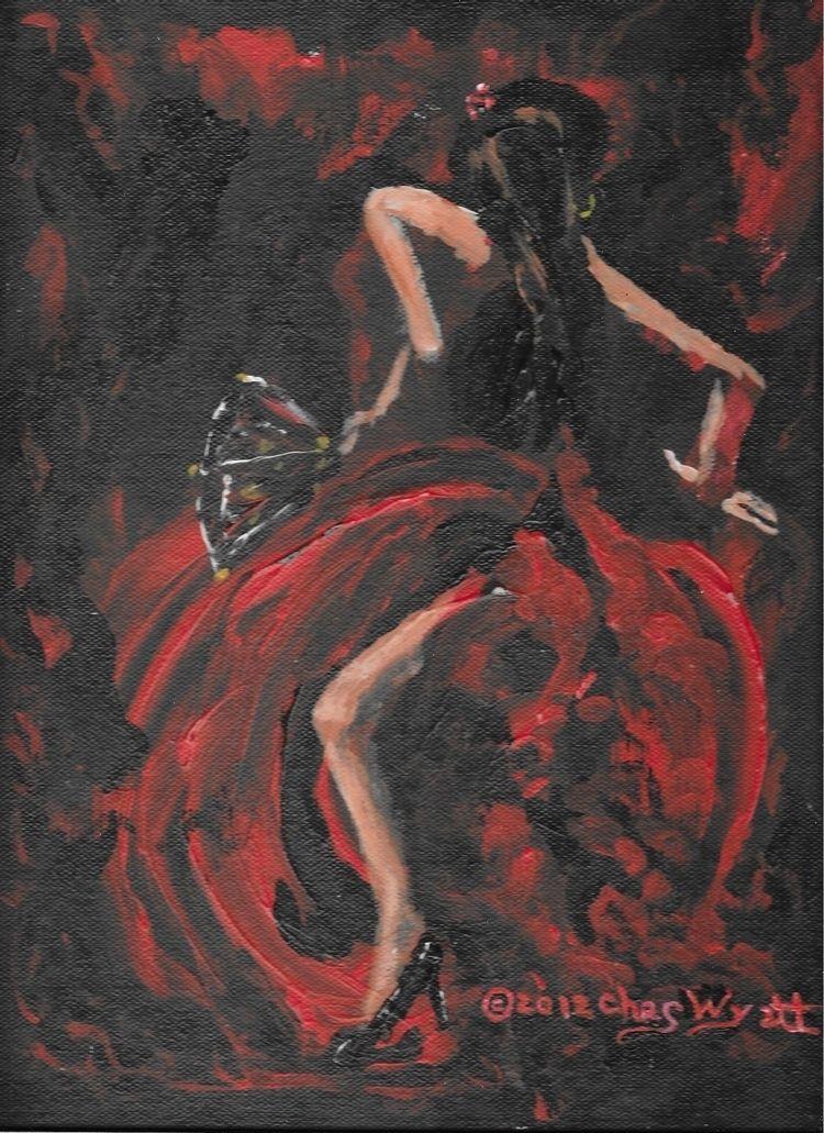 Spanish Dancer, 9 12, acrylic c - chaswyatt | ello