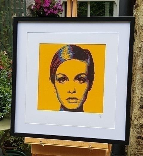 'Yellow Twiggy' - modern '60s i - elizarockerart | ello