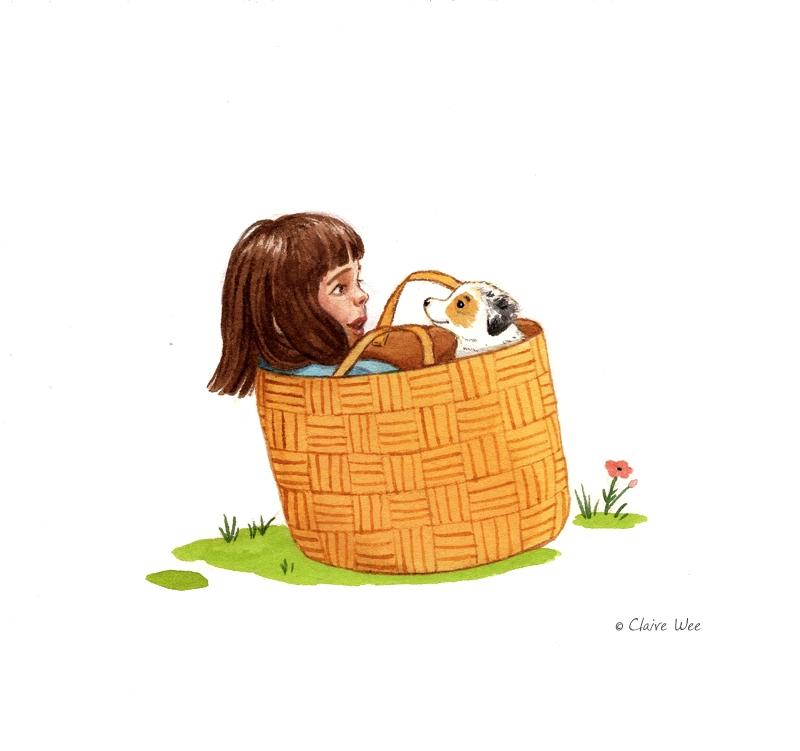 Basket friends - basket, illustration - j0eyg1rl | ello