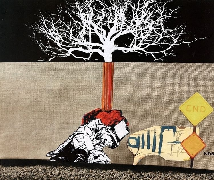 ellocollage, collage, art, inflation - strangeworld | ello