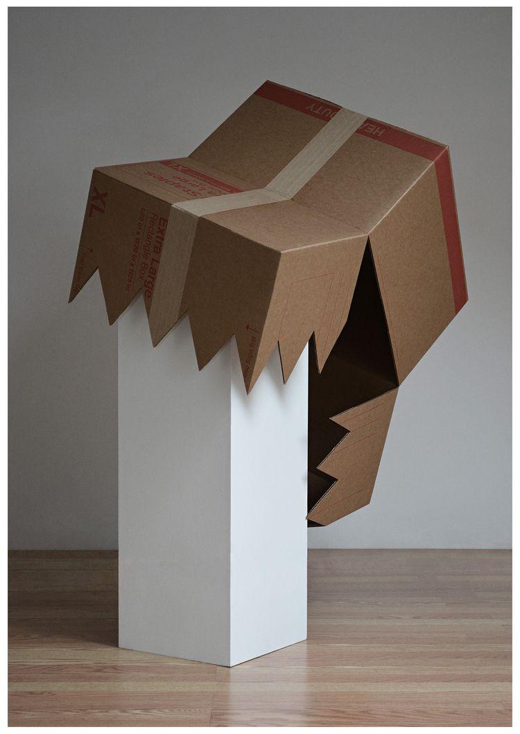 FORM PEDESTAL, 2021 / cardboard - adamniklewicz   ello