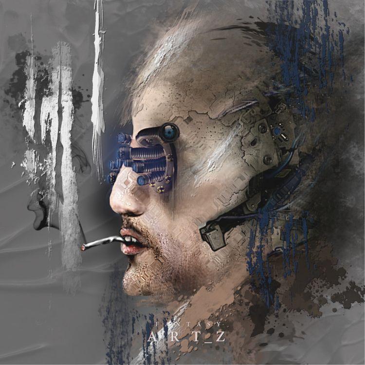 Cyborg (remake - cyborg, scifi, fantasy - fantasy_art_z   ello