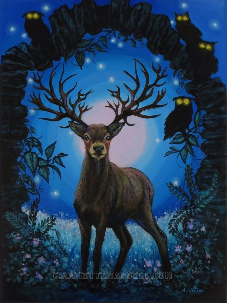 SOLD Miyazaki inspired deer par - ahassell   ello