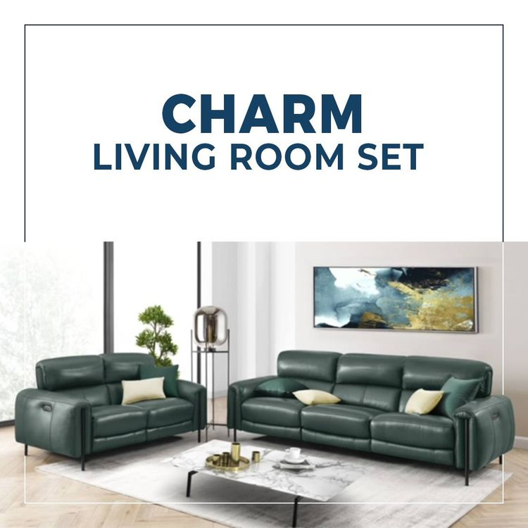 Charm Living Room Leather Sofa  - creativefurniturestore   ello