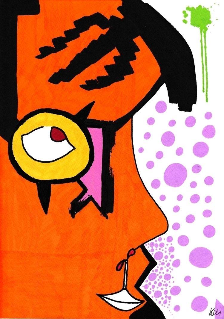 Vivid faces ink, 12 - artline, marker - kmillu   ello