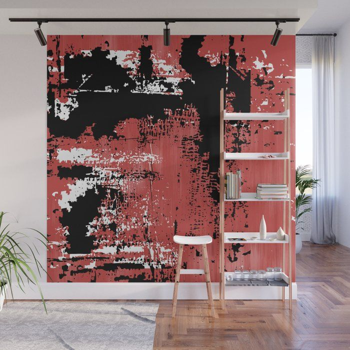 Grunge Paint Red White Black Wa - art-heart-and-alternative-mood   ello