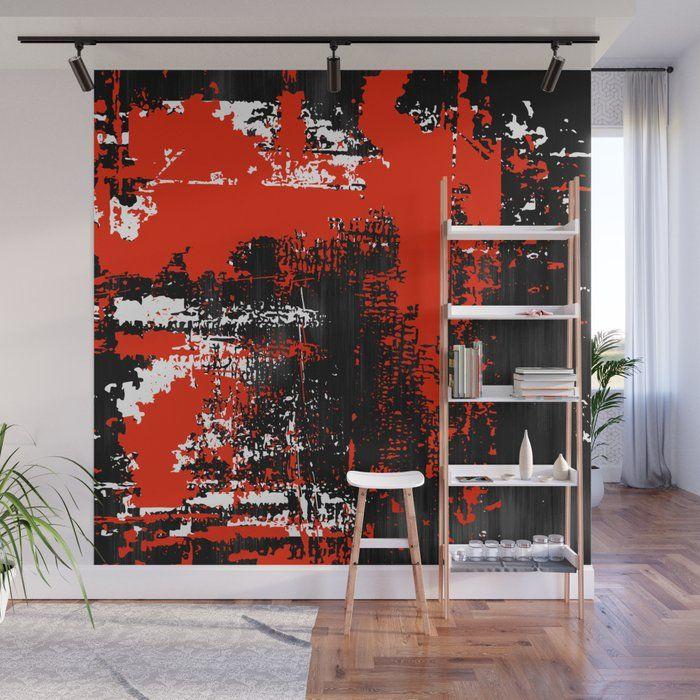 Grunge Paint Black White Red Wa - art-heart-and-alternative-mood   ello