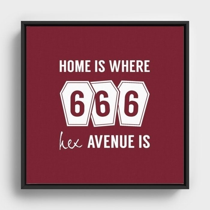 666 Hex Avenue Home Purple Fram - art-heart-and-alternative-mood   ello