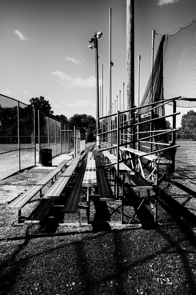 BW,, Bleachers,, Ohio, Baseball - paulghellothere | ello