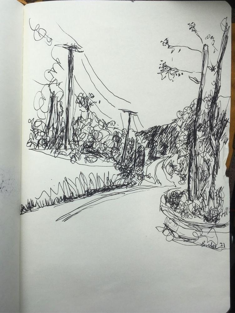 Mingo Road. •• 8 5 inches, ink  - brunkenart | ello