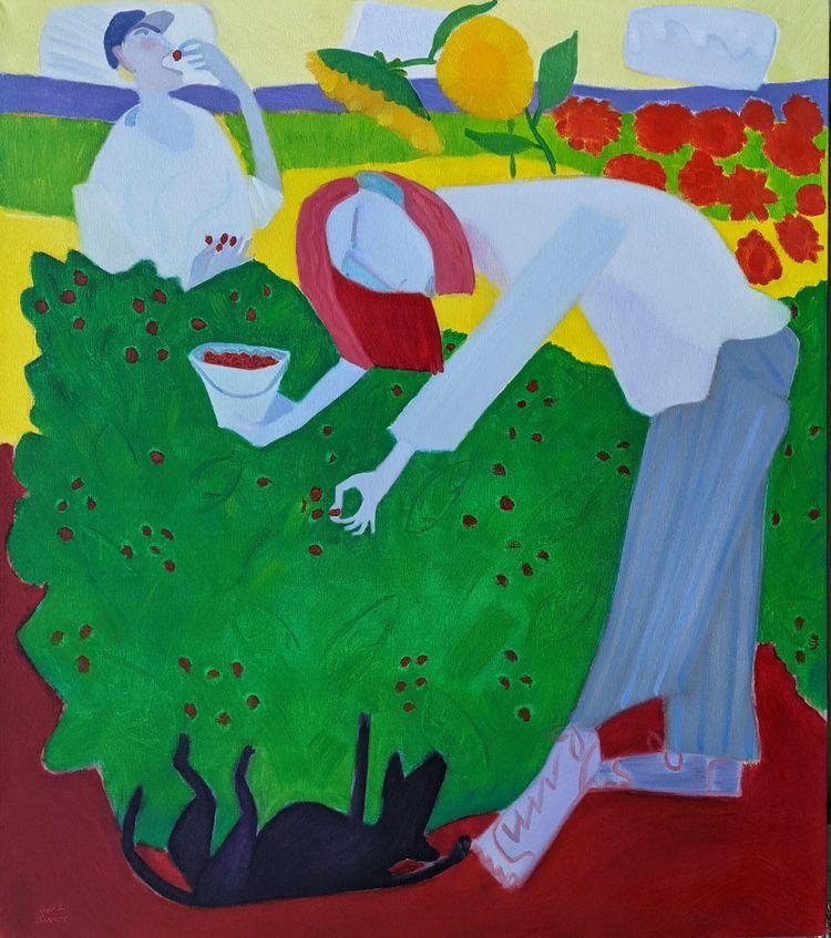 Pickers Berries oil/canvas, 50x - markbarry | ello