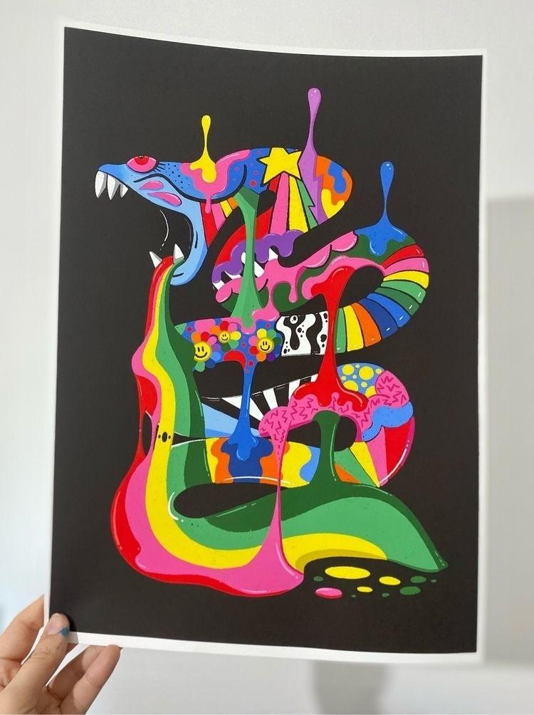 Colourful Snake Prints signed s - ms_wearer | ello