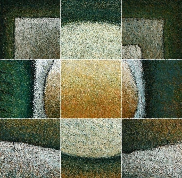 Small Abstract Art Print Green  - juliannewmanartist   ello