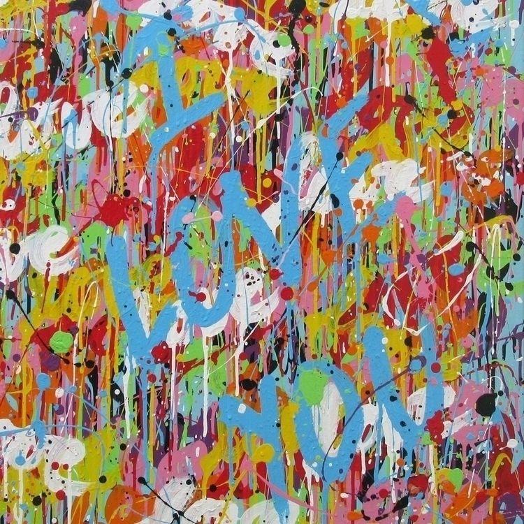 love acrylics canvas (100x100 c - isabellepelletane   ello