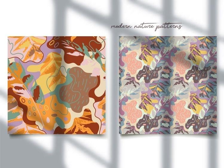 Modern patterns nature motives  - yaninja   ello