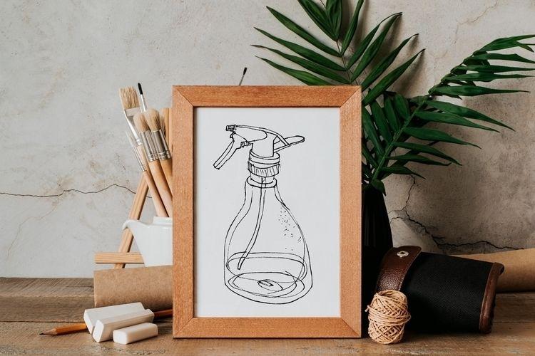 Sketch drawing water sprayer qu - yaninja   ello