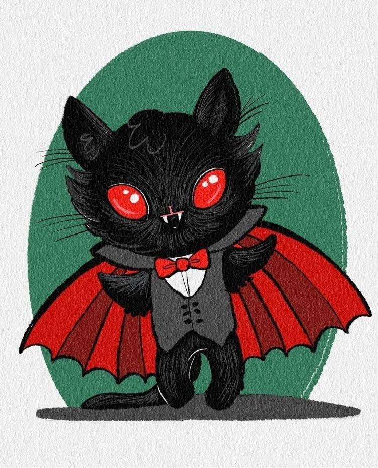 Drawlloween Day 17 - Vampire ki - smushbox | ello